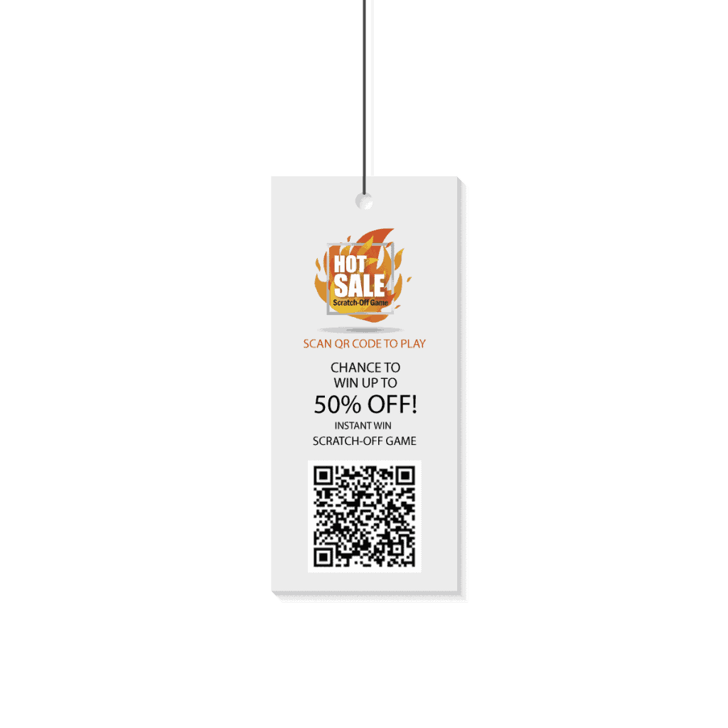 Hang Tag for Hot Sale! Scratch-Off Game