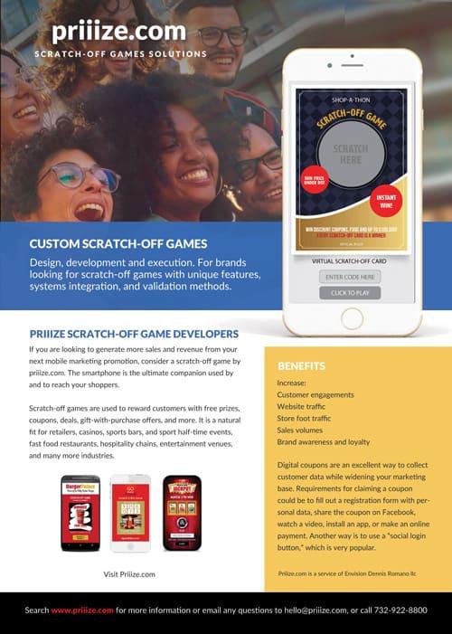 Priiize Custom Scratch-off Games - brochure download