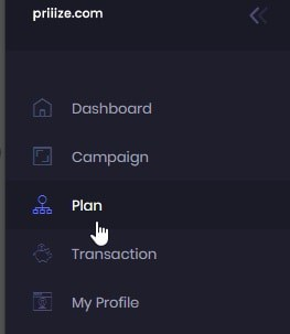 """Click """"Plan"""" and then select either the free plan or a paid plan"""