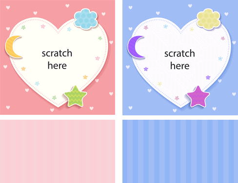 New! Free Baby Shower Scratch-off Game Graphics - Use with Priiize.com Scratch-Off Cards Gift Reveals