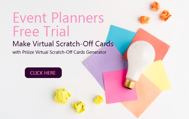Event Planners - Free Trial -Virtual Scratch-Off Cards Generator