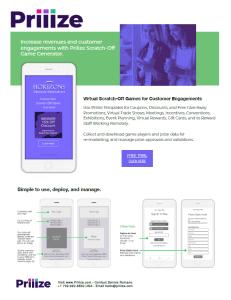 Priiize Brochure PDF Download - Priiize Virtual Scratch-Off Cards Generator