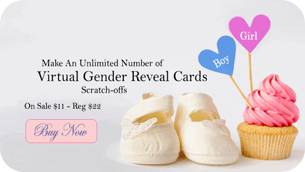 HOW TO MAKE GENDER REVEAL SCRATCH-OFF CARDS