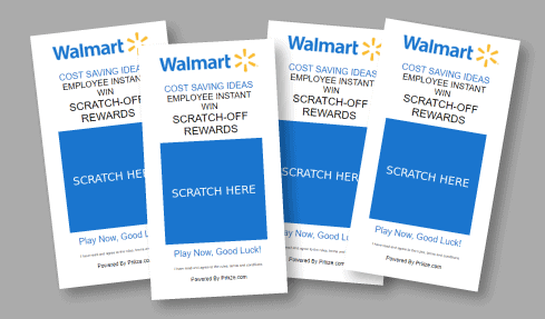 give out multiple scratch-off cards to a person to play