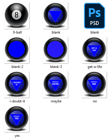 Magic 8 ball virtual scratch-off game - free images