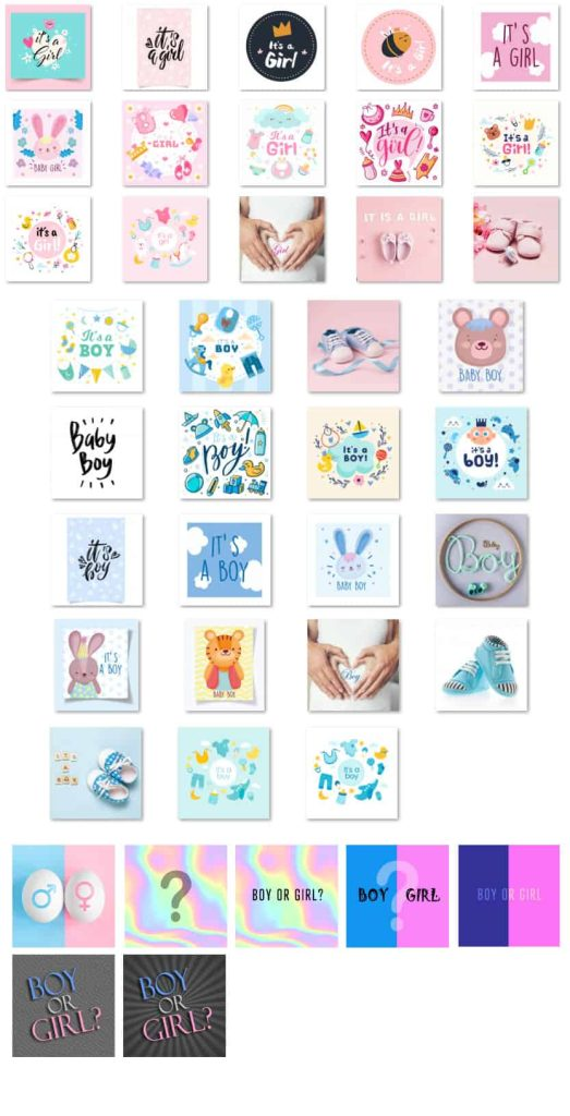 Gender Reveal Scratch-offs Scratch-Pads and Background Images