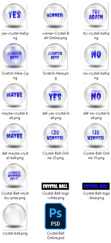 """Use the Virtual Crystal Ball Online Scratch-off as-is, or replace the """"Answers"""" with your own custom message."""