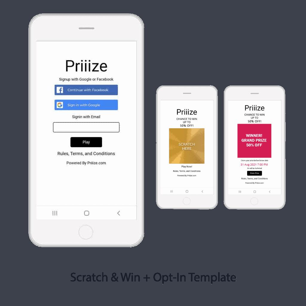 Scratch & Win + Opt-In Template