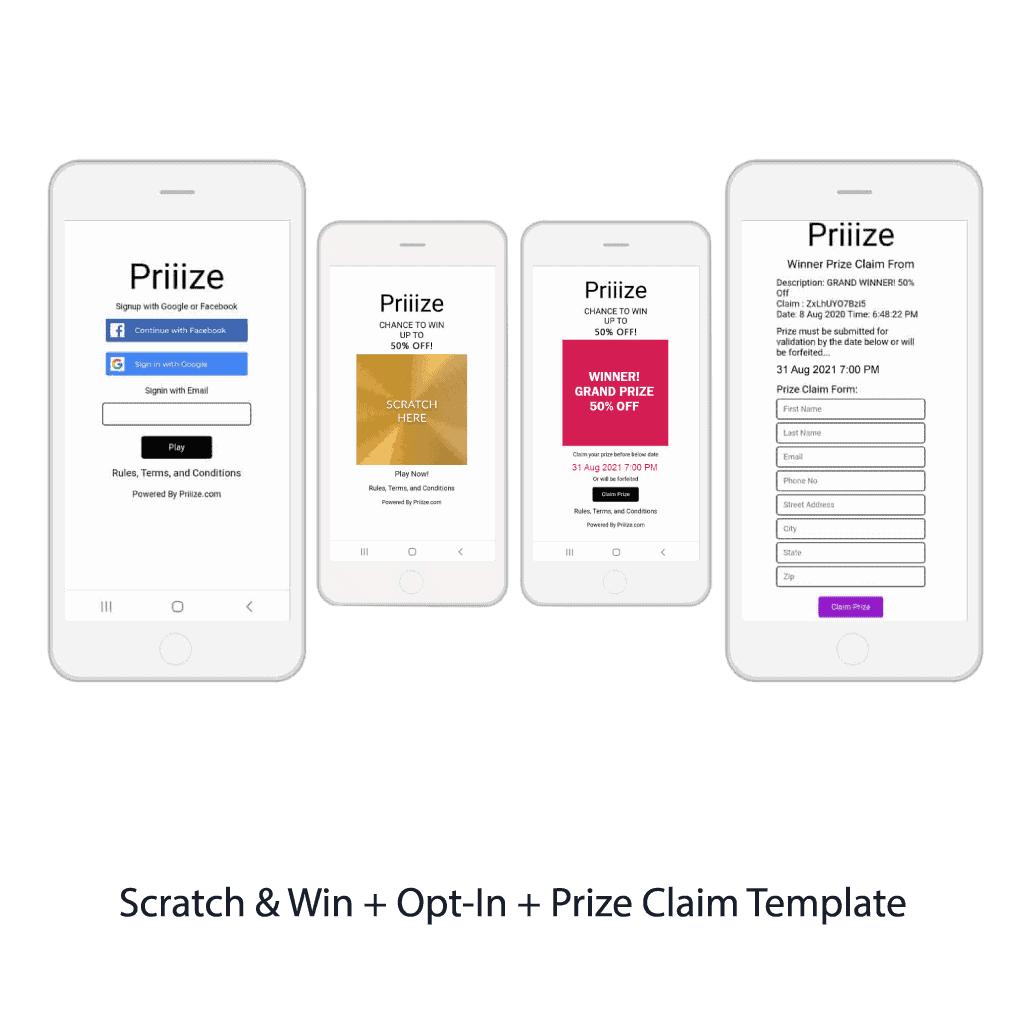 4. Scratch & Win + Opt-In + Prize Claim Template