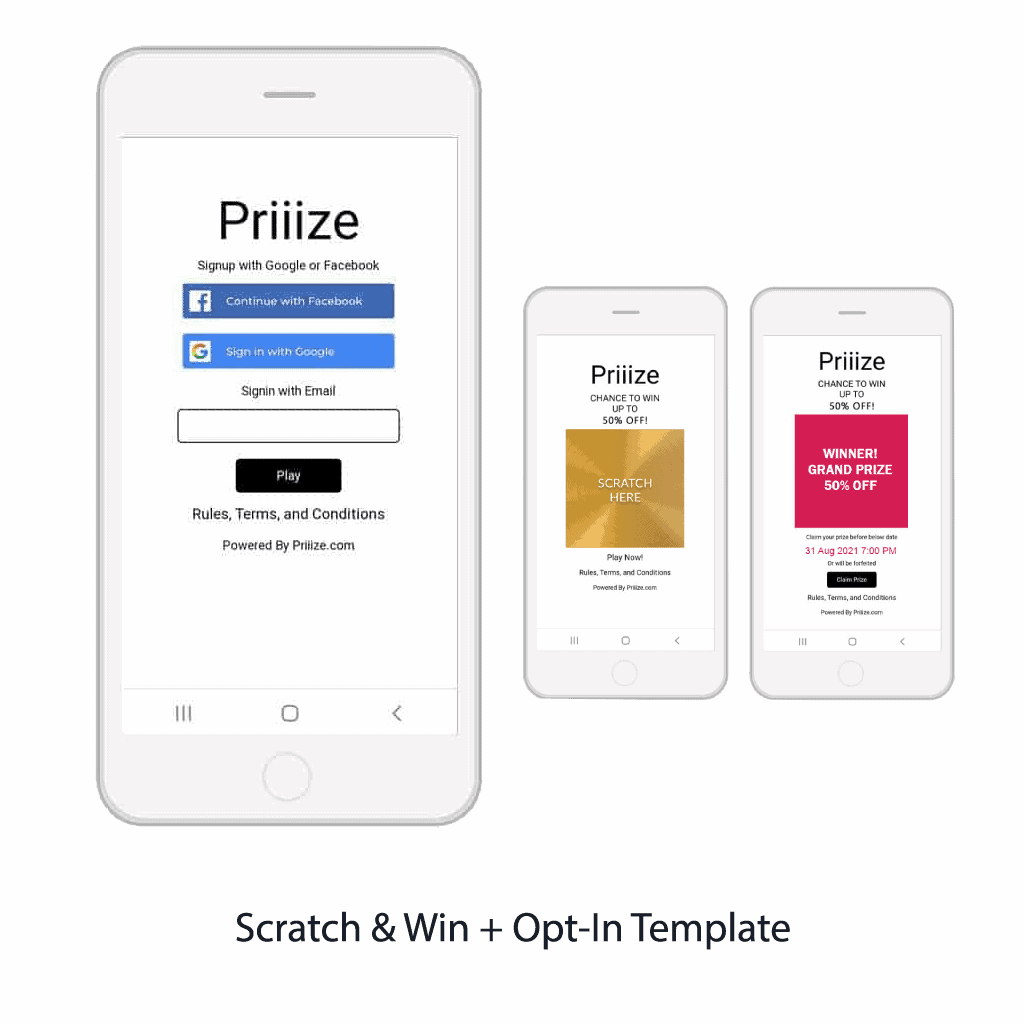 2. Basic Scratch & Win + Opt-In Form Template